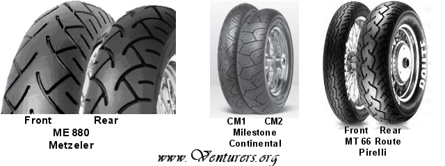continental website and technical manual claims this cm2 rear tire can be fitted to the front on the rsv verify with tire dealer the is not made