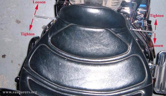 Remove Drivers Seat Yamaha Venture